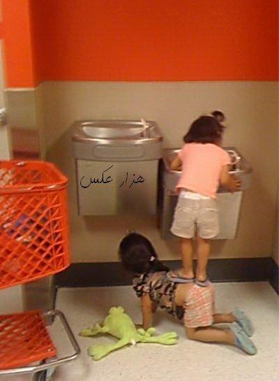 عکس با مزه دختر کوچولوی با مرام